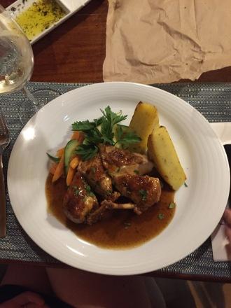 Lamb with potatoes & veg